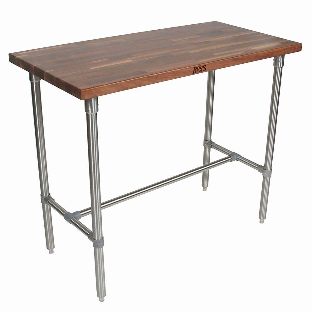 "John Boos WAL-CUCKNB424-40 Cucina Americana Classico Table, Walnut, 48 x 24 x 40"" H"