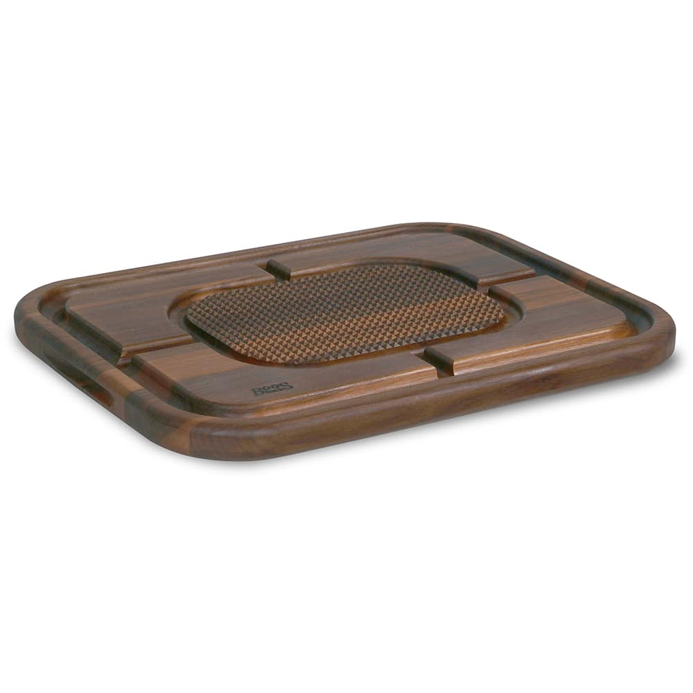 "John Boos WAL-MN2418150-SM Carving Collection Board w/ Grooves, Grips & Pan, 18x24x2.25"", MN Walnut"