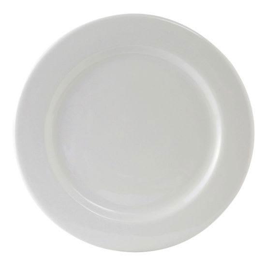 """Tuxton ALA-120 12"""" Round Alaska Plate - Ceramic, Porcelain White"""