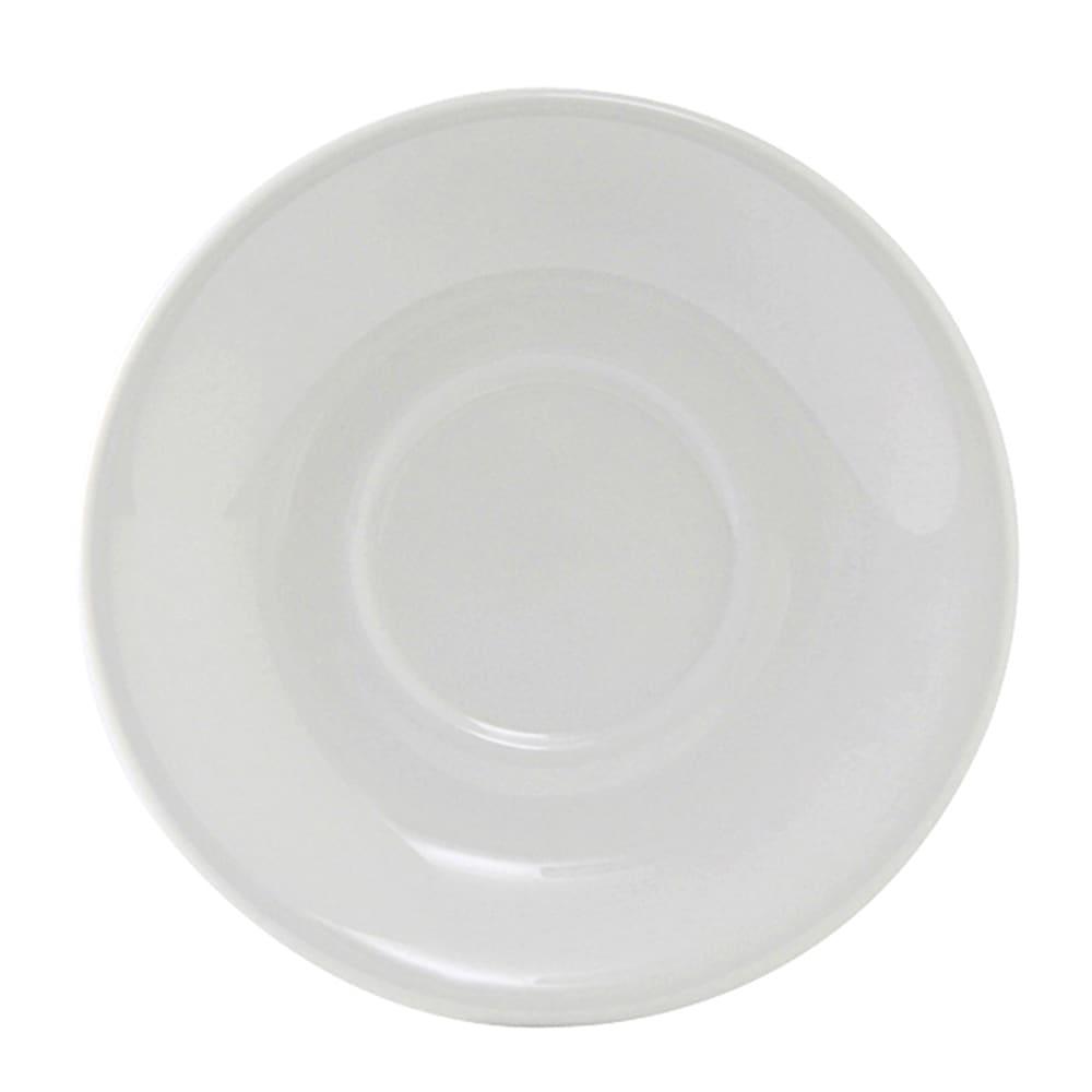 """Tuxton ALE-060 5"""" Round Alaska Saucer - Ceramic, Porcelain White"""