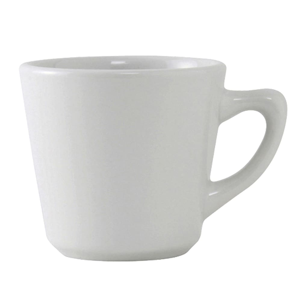Tuxton ALF-075 7.5 oz Alaska/Colorado Cup - Ceramic, Porcelain White
