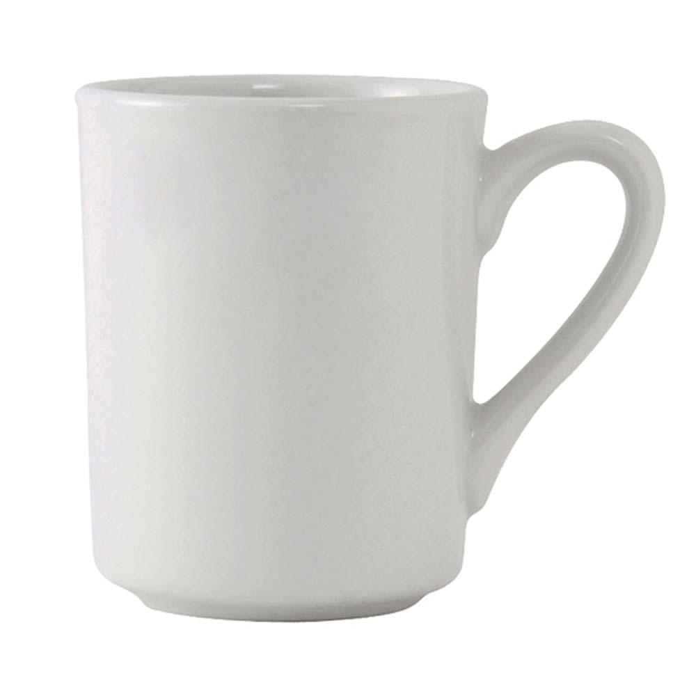Tuxton ALM-085 8 oz Alaska Brea Mug - Ceramic, Porcelain White