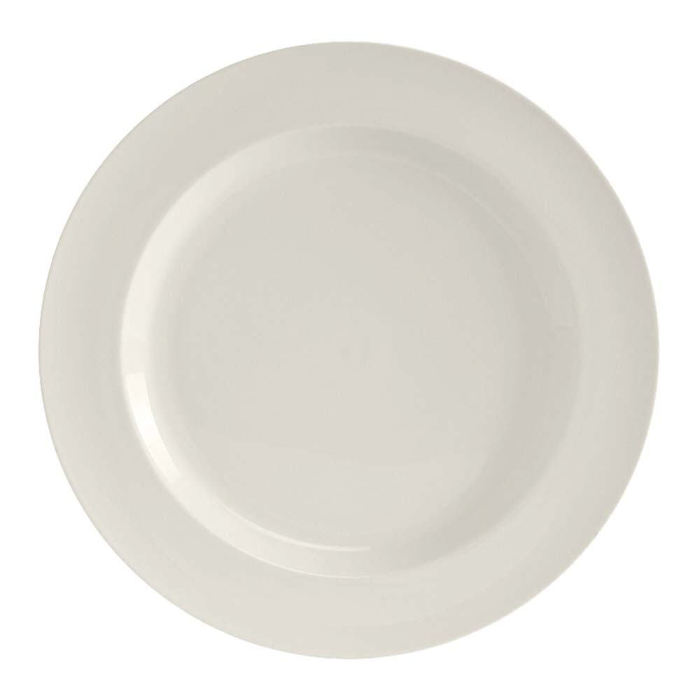 "Tuxton AMU-004 8.13"" Round Modena Plate - Ceramic, Pearl White"
