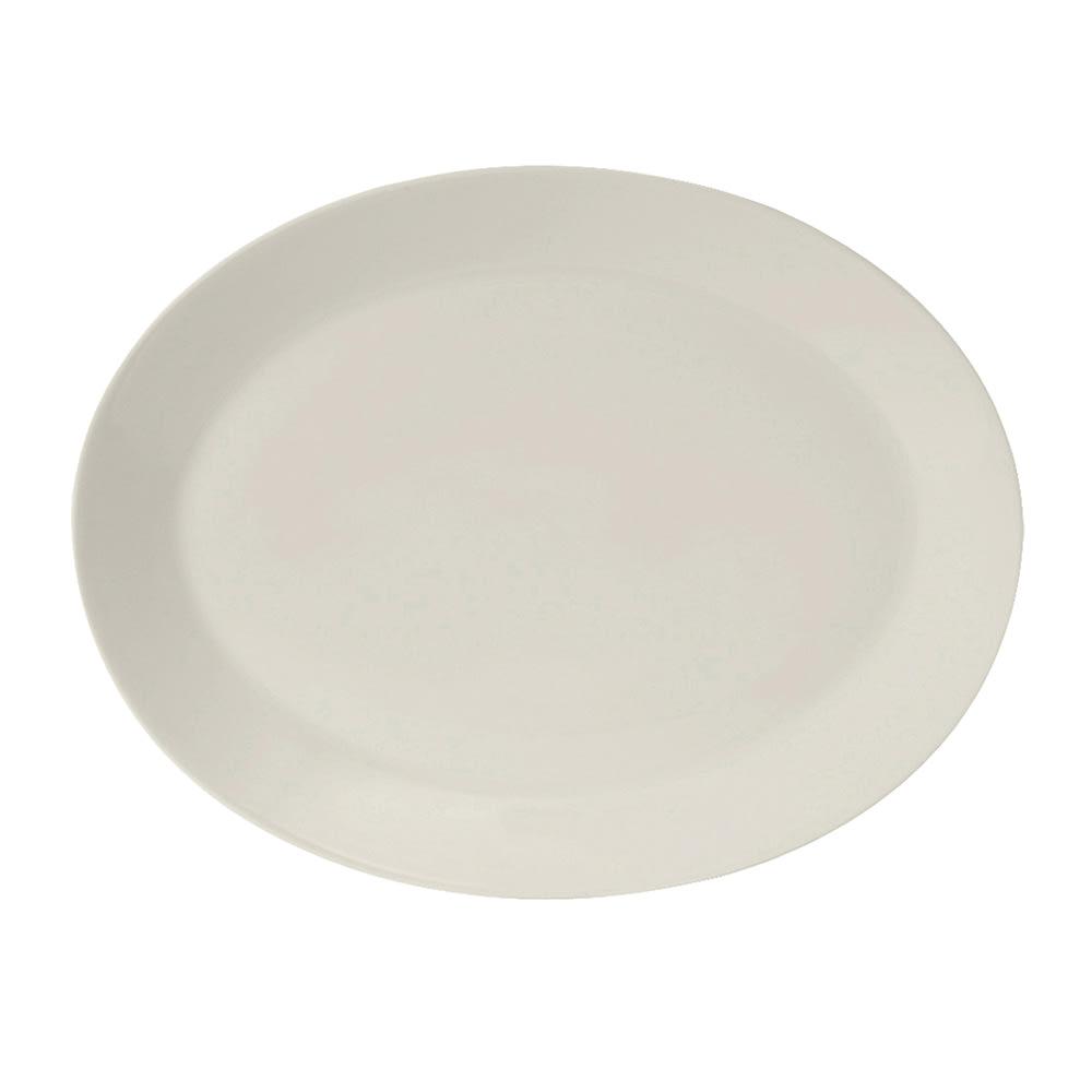 "Tuxton AMU-026 Oval Modena Platter - 8.13"" x 6.5"", Ceramic, Pearl White"