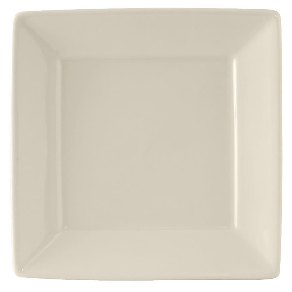 """Tuxton BEH-0845 8.5"""" Square Plate - Ceramic, American White"""