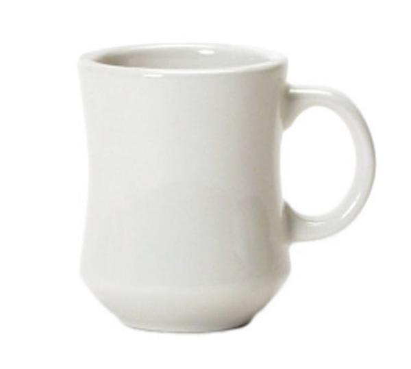 Tuxton BEM-0806 Princess Mug, 8 oz, 3-1/8in, Eggshell White