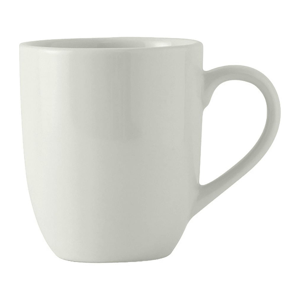 Tuxton BPM-160A 16 oz Milano Mug - Ceramic, Porcelain White