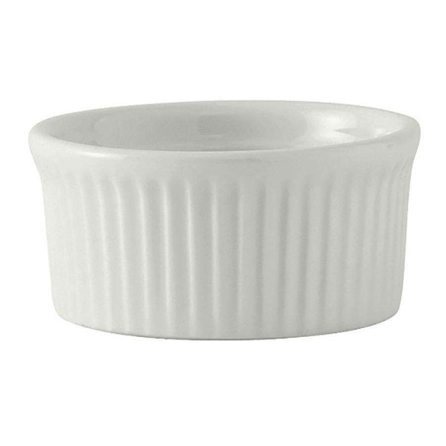 Tuxton BPX-0502 5 oz Fluted Ramekin - Ceramic, Porcelain White