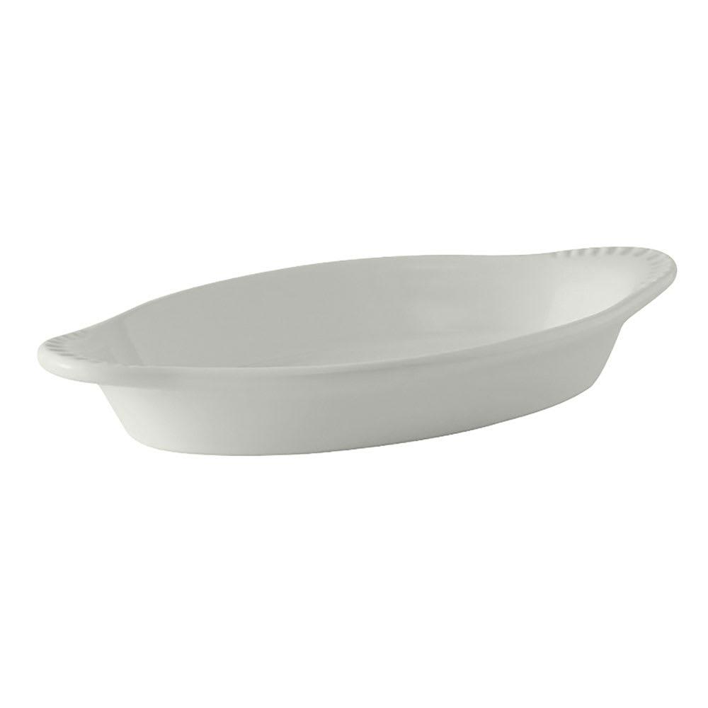 Tuxton BWN-080W 8 oz Oval Ceramic Welsh Rarebit, White