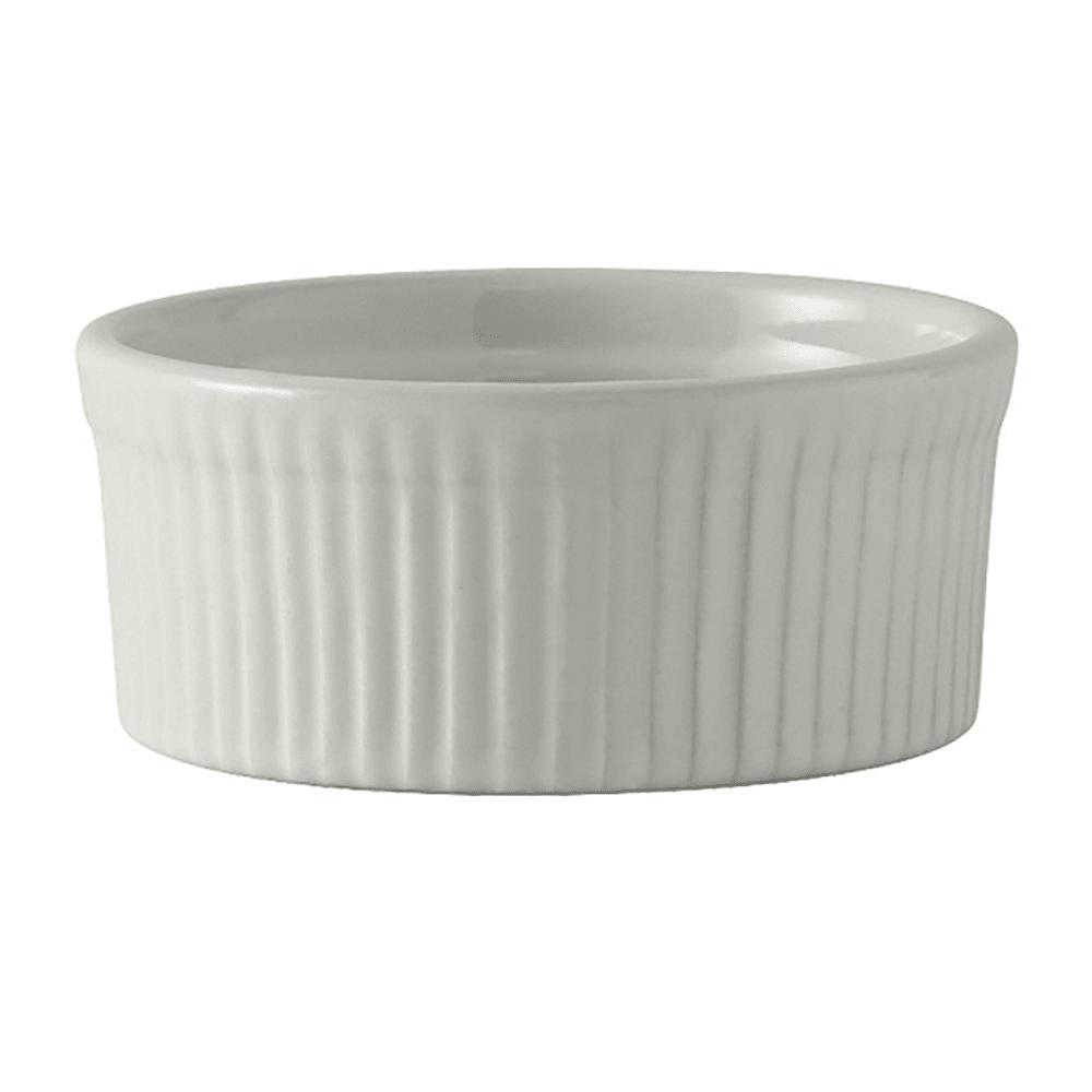 Tuxton BWX-1002 10 oz Round Souffle Dish - Ceramic, White