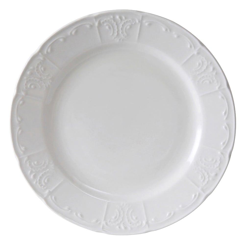 "Tuxton CHA-096 9.75"" Round Chicago Plate - Ceramic, Porcelain White"