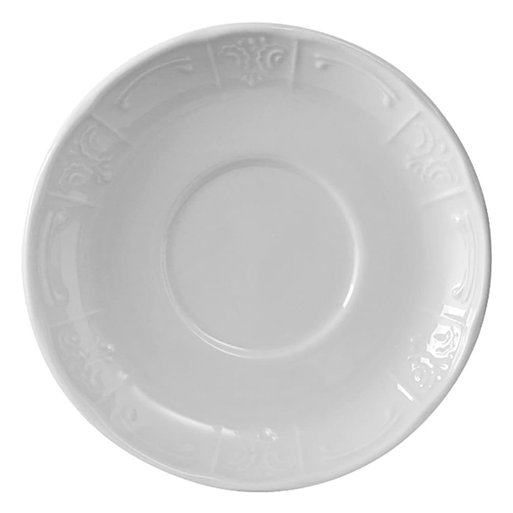 "Tuxton CHE-054 5.63"" Round Chicago Saucer - Ceramic, Porcelain White"