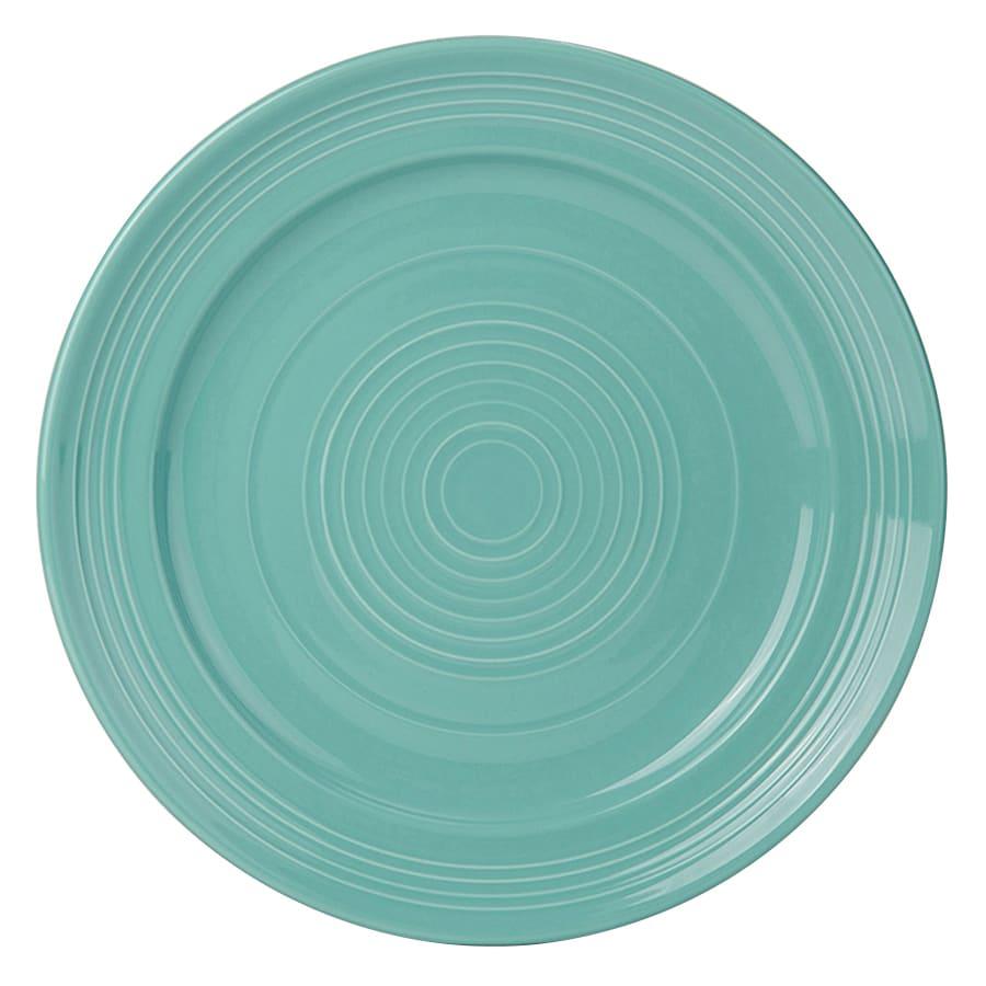 "Tuxton CIA-104 10-1/2"" Round Plate - China, Island Blue"