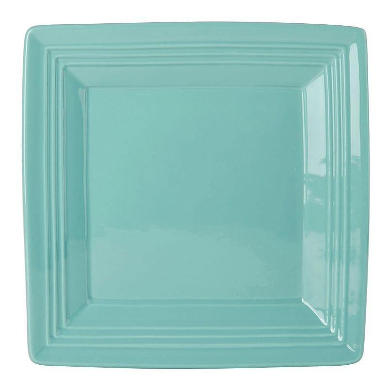 "Tuxton CIH-0845 8-1/2"" Square Plate - China, Island Blue"