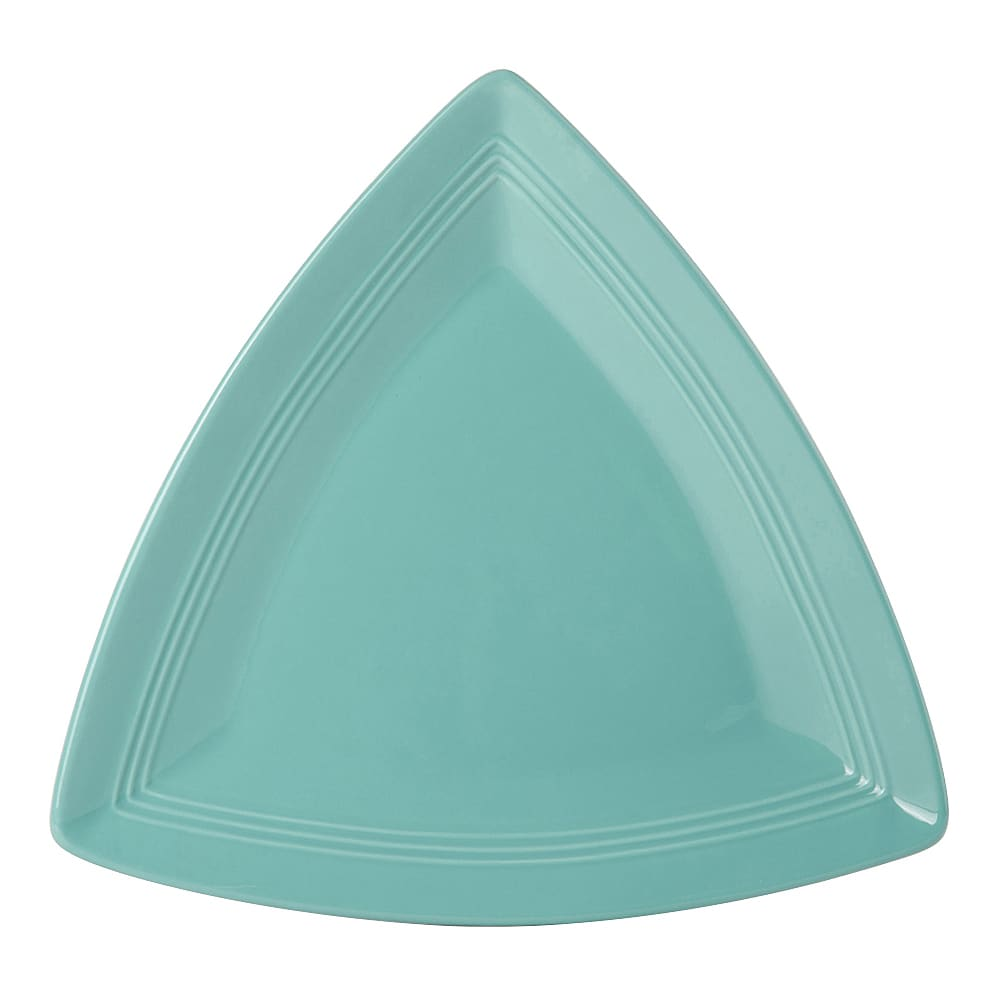 "Tuxton CIZ-1248 12-1/2"" Triangular Plate - China, Island Blue"