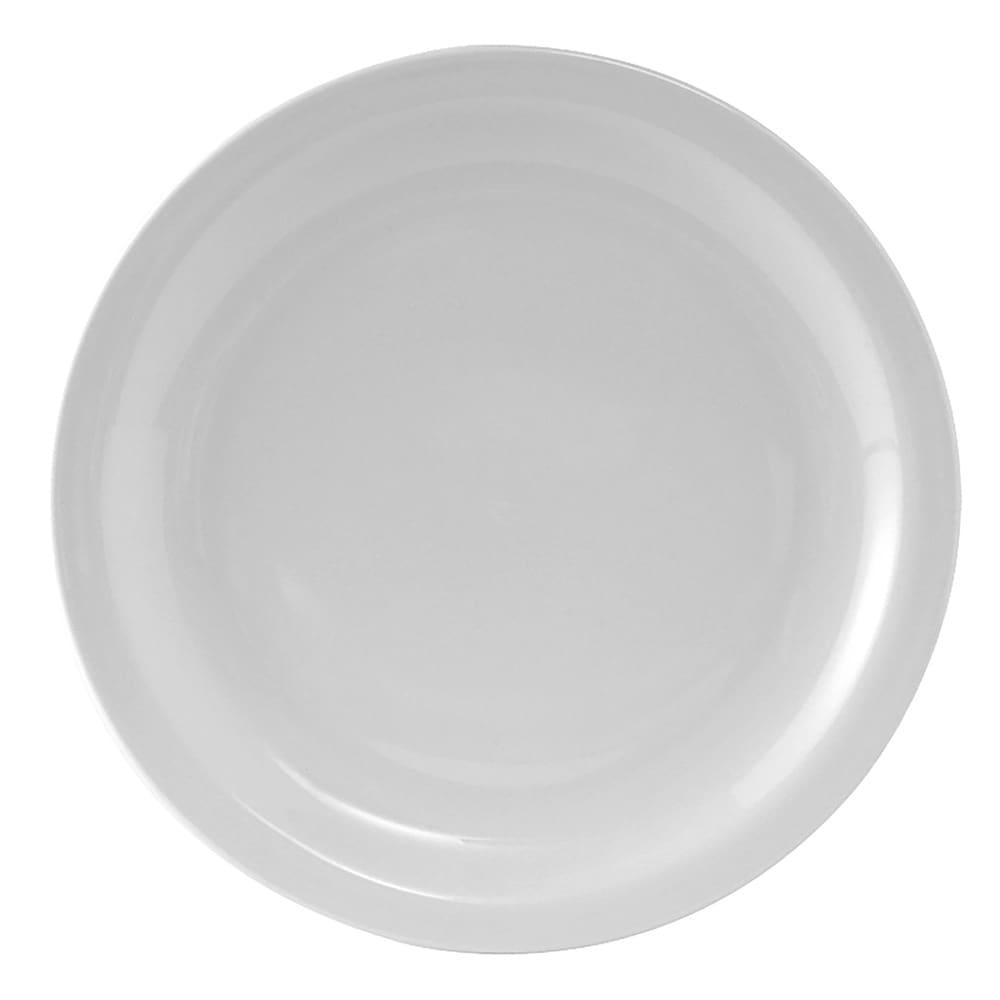 """Tuxton CLA-090 9"""" Round Colorado Plate - Ceramic, Porcelain White"""
