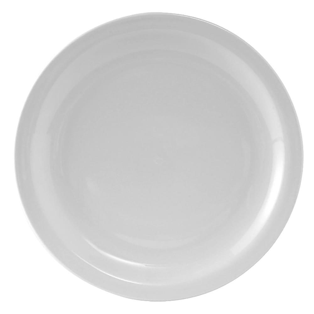 """Tuxton CLA-104 10.5"""" Round Colorado Plate - Ceramic, Porcelain White"""