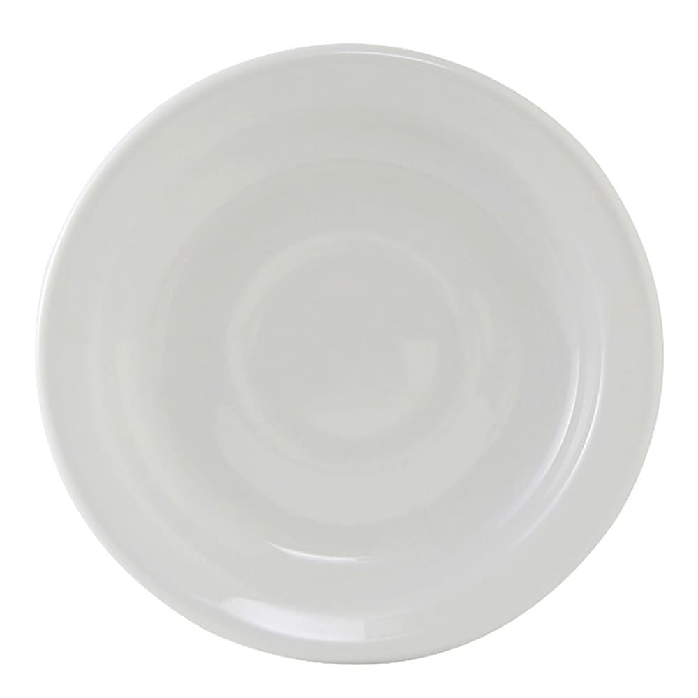 """Tuxton CLE-057 5.87"""" Round Alaska Saucer - Ceramic, Porcelain White"""
