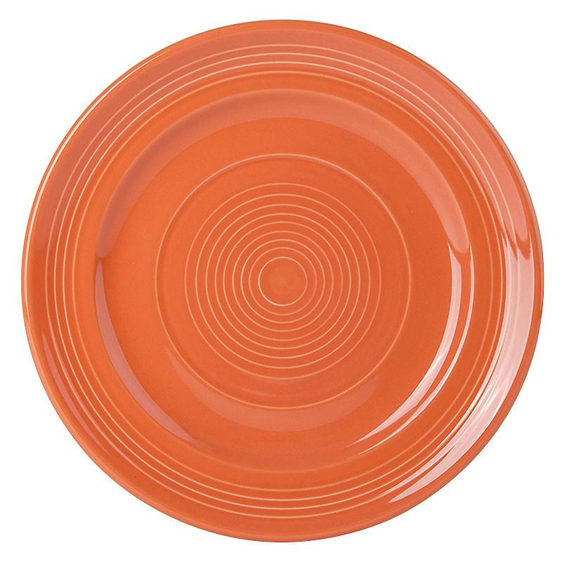"""Tuxton CPA-090 9"""" Round Plate - China, Papaya"""