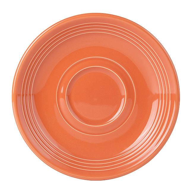"Tuxton CPE-060 6"" Round Saucer - China, Papaya"