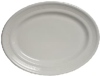 Tuxton CWH-136 Platter, 13-3/4 in x 10-1/2 in, Oval, Concentrix Blanco