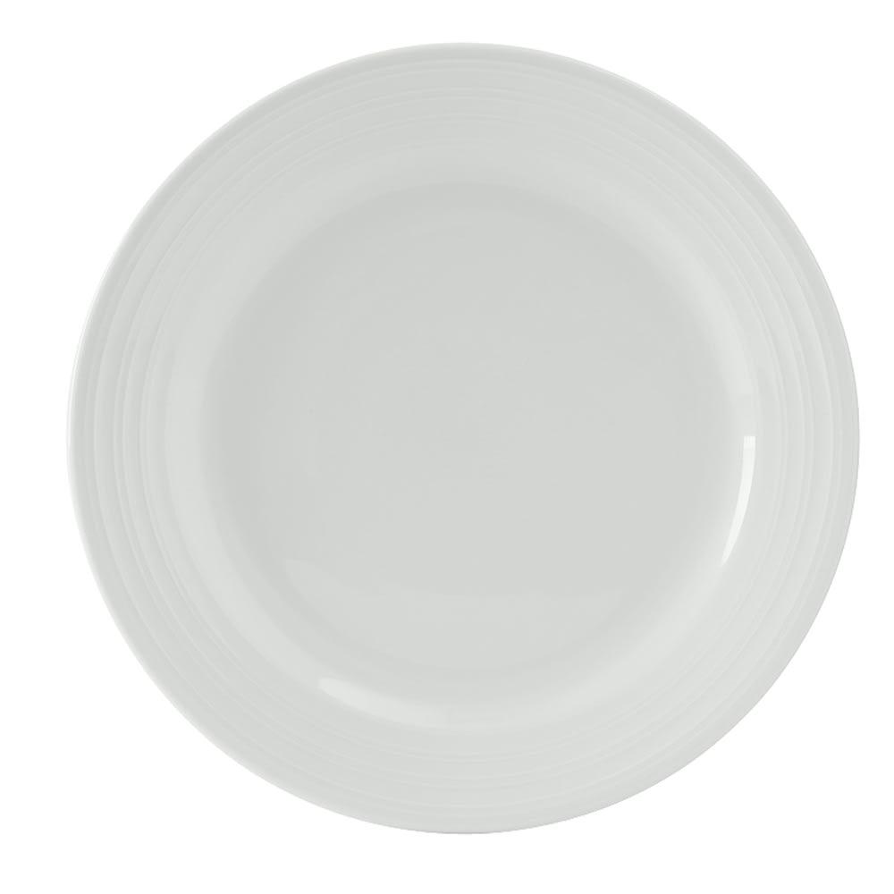 "Tuxton FPA-062 6.25"" Round Pacifica Plate - Ceramic, Porcelain White"