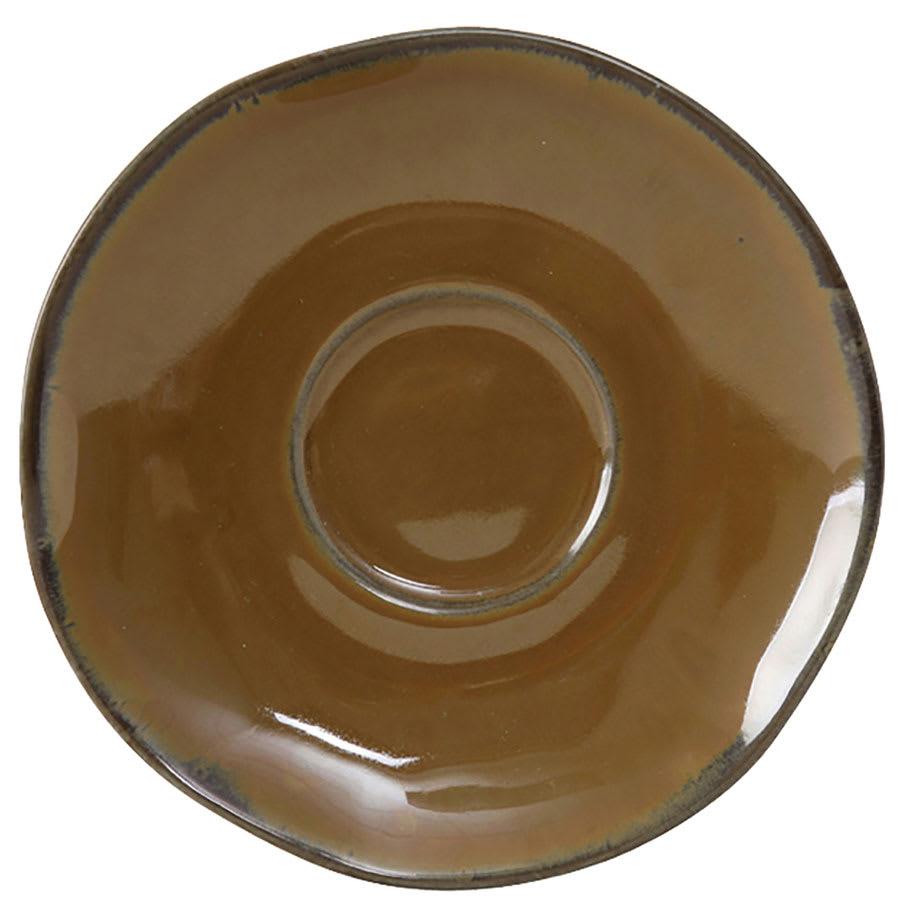 """Tuxton GAJ-084 6-3/8"""" Ceramic Saucer - Mojave"""