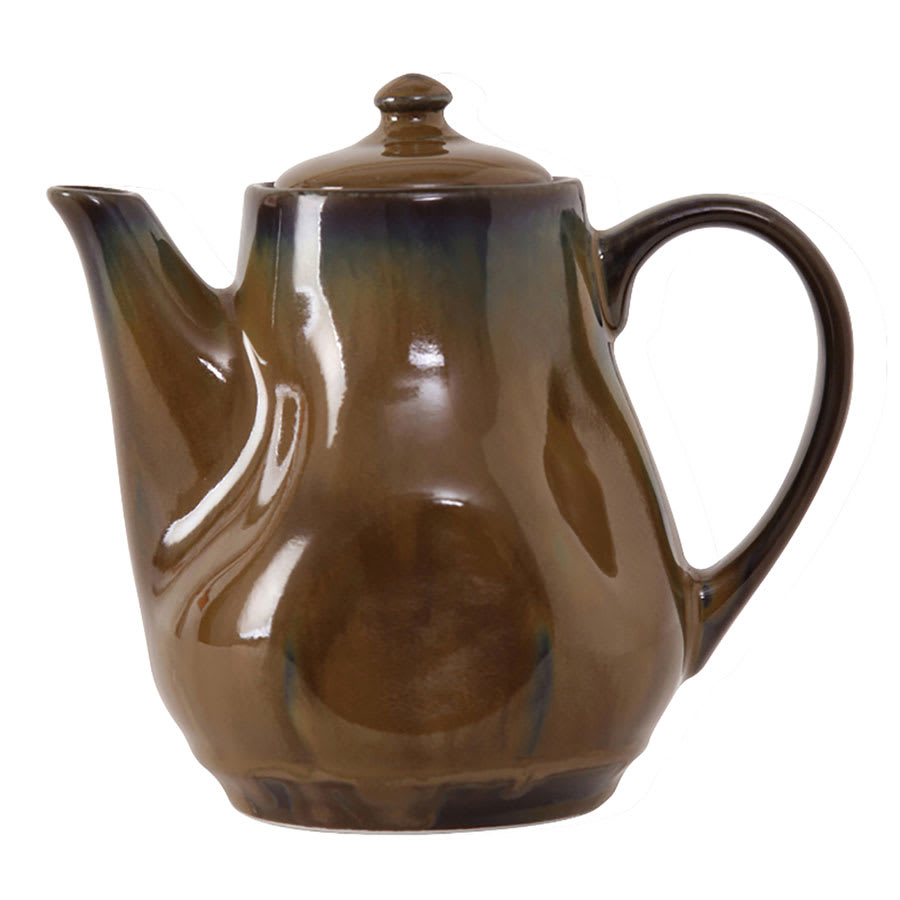 Tuxton GAJ-101 17-oz Ceramic Teapot with Lid - Mojave