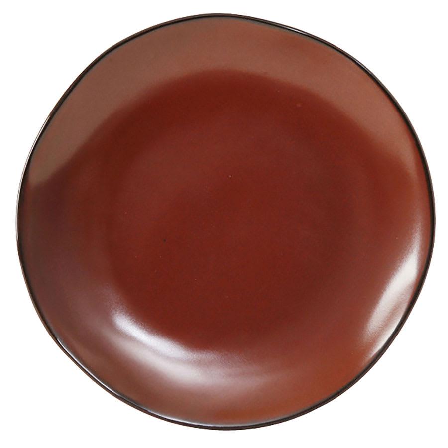 """Tuxton GAR-002 6 1/2"""" Round Ceramic Plate - Red Rock"""