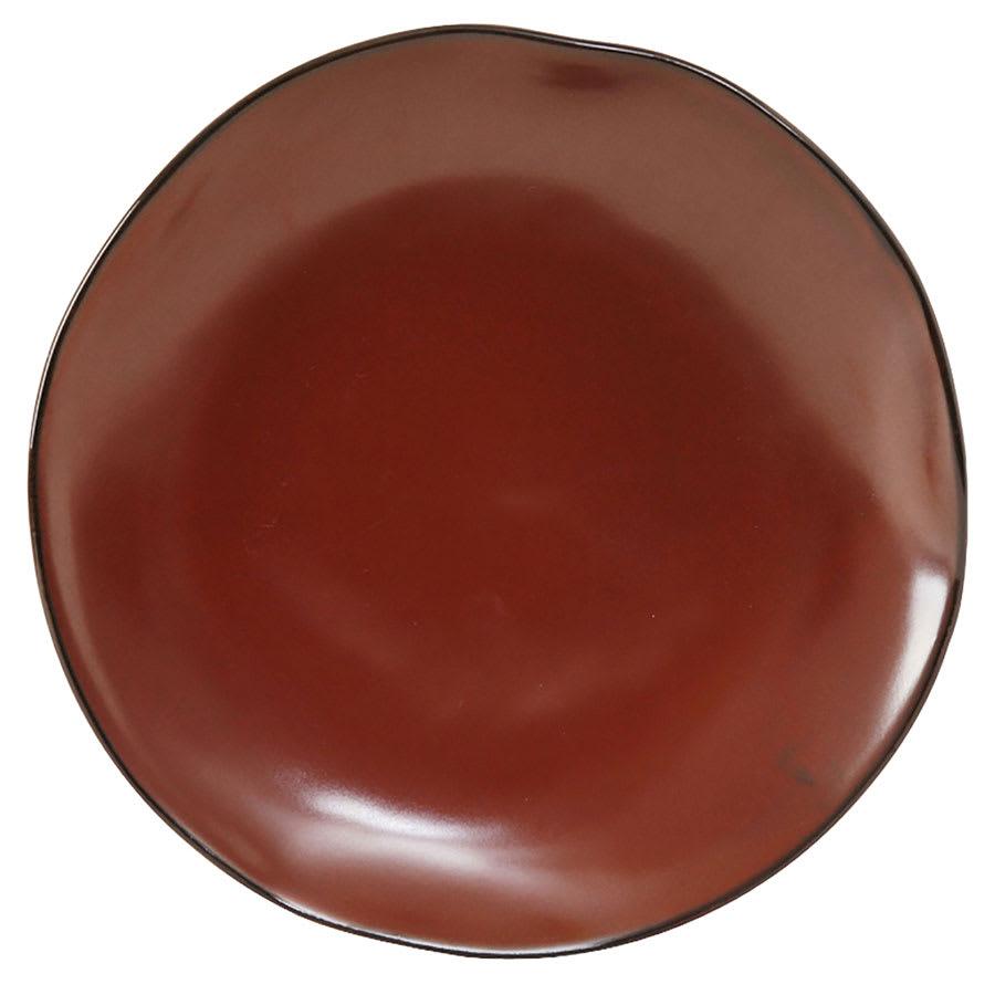 """Tuxton GAR-006 10 1/4"""" Round Ceramic Plate - Red Rock"""