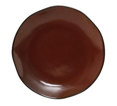 """Tuxton GAR-008 11-5/8"""" Round Ceramic Plate - Red Rock"""