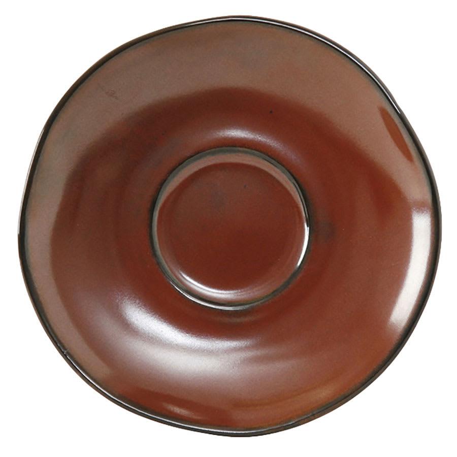 "Tuxton GAR-084 6 3/8"" Ceramic Saucer - Red Rock"