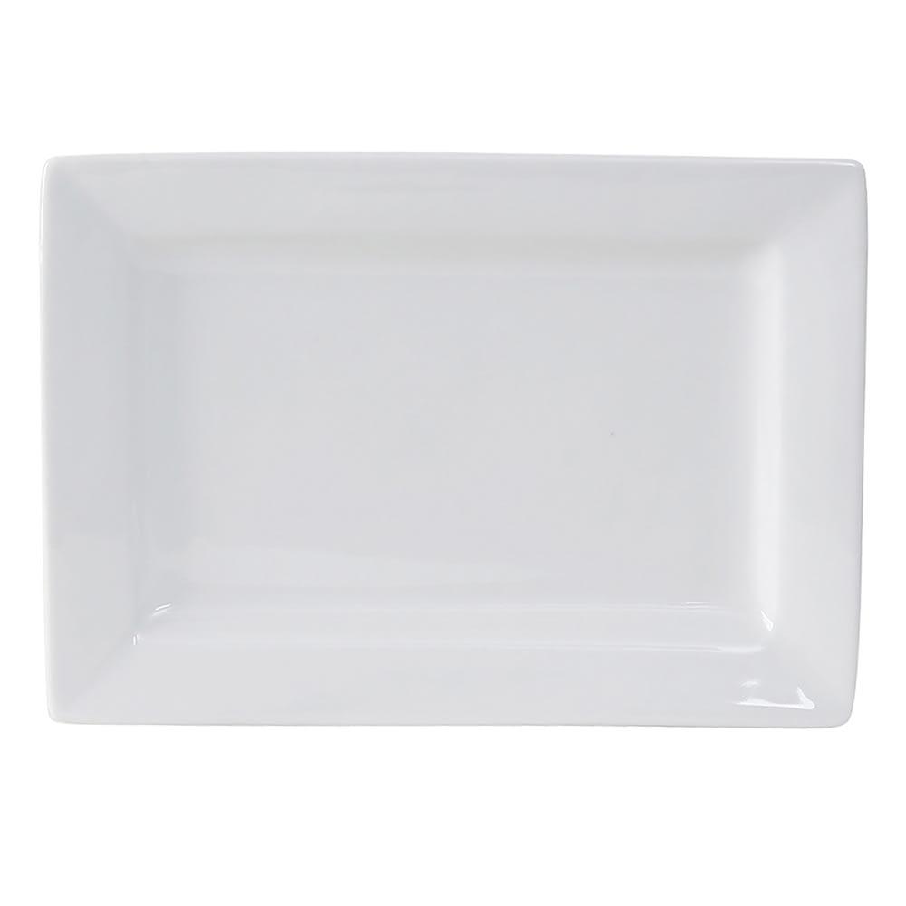 "Tuxton GSP-550 Rectangular Plate - 8"" x 5.5"", Ceramic, Porcelain White"