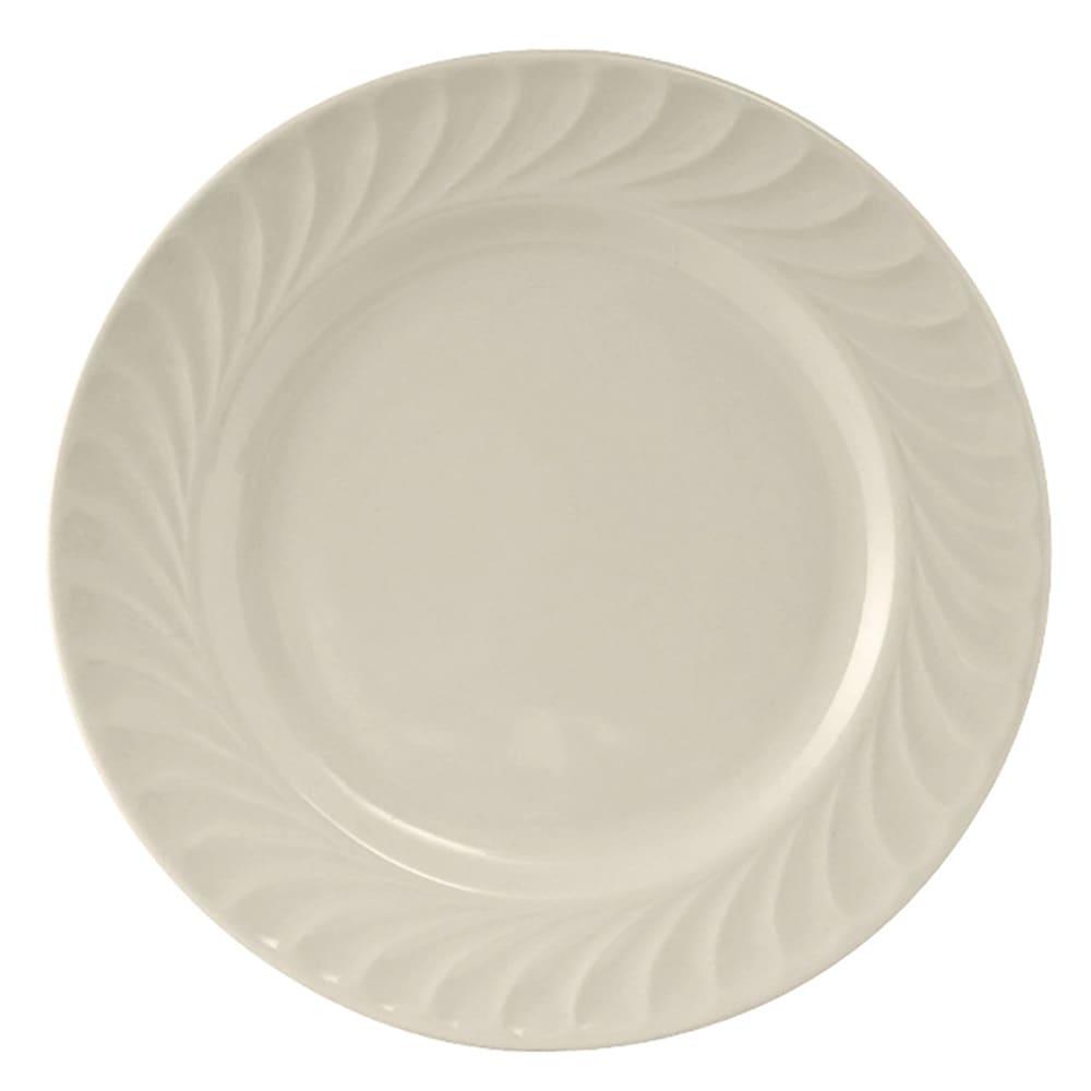 "Tuxton MEA-055 5.63"" Round Meridian Plate - Ceramic, American White"