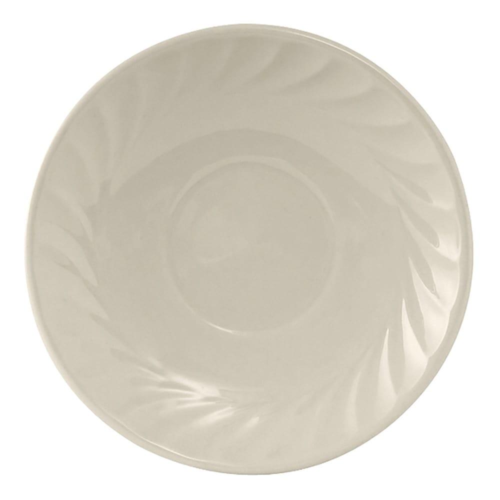 "Tuxton MEE-056 5.75"" Round Meridian Saucer - Ceramic, American White"