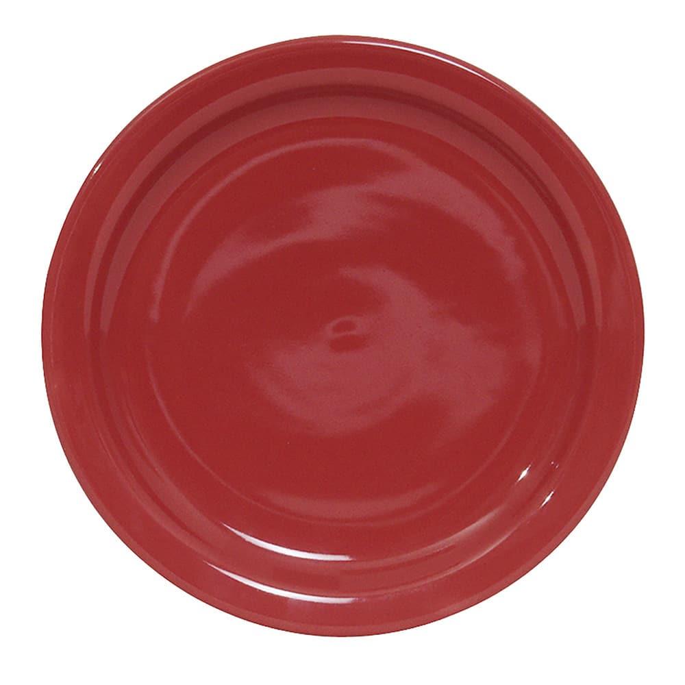 "Tuxton NQA-090 9"" Round Plate - Ceramic, Cayenne"