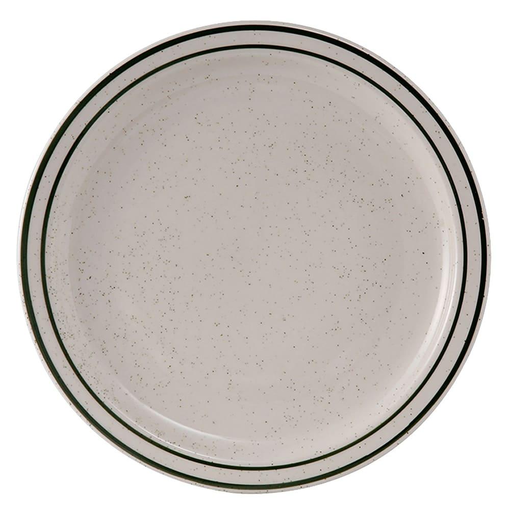 "Tuxton TES-016 10.5"" Round Emerald Plate - Ceramic, American White"