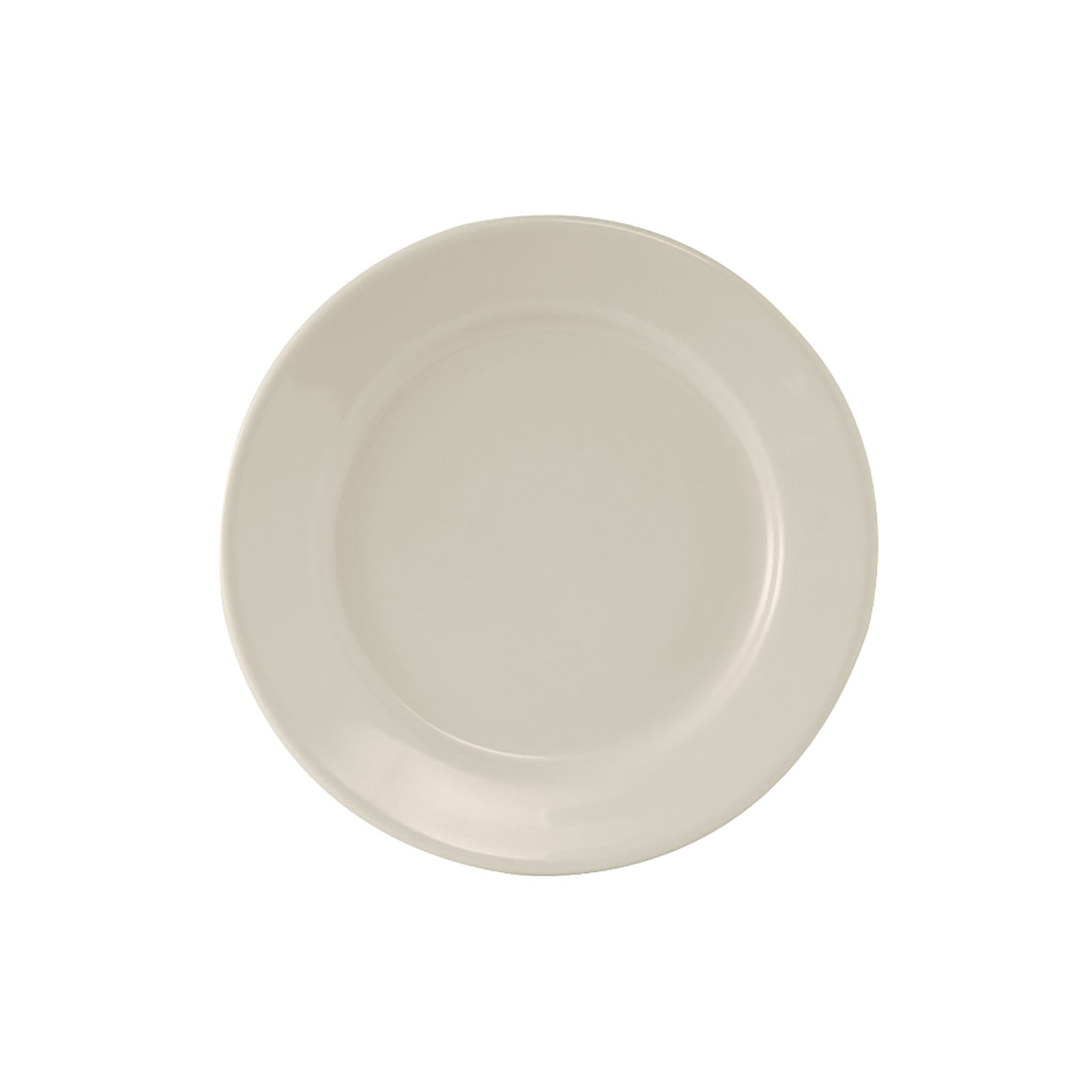 "Tuxton TRE-005 5.5"" Round Reno Plate - Ceramic, American White"