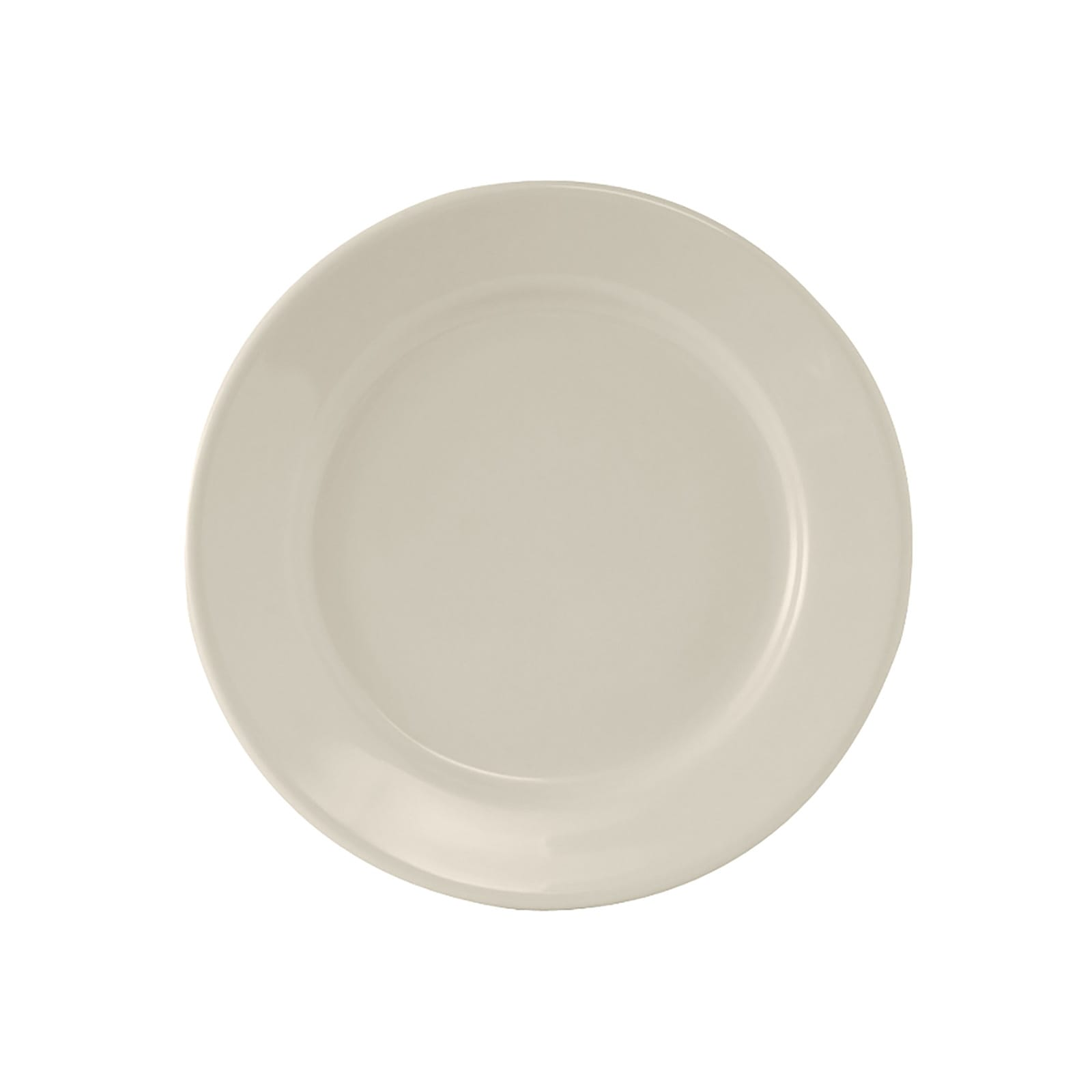 "Tuxton TRE-006 6.63"" Round Reno Plate - Ceramic, American White"