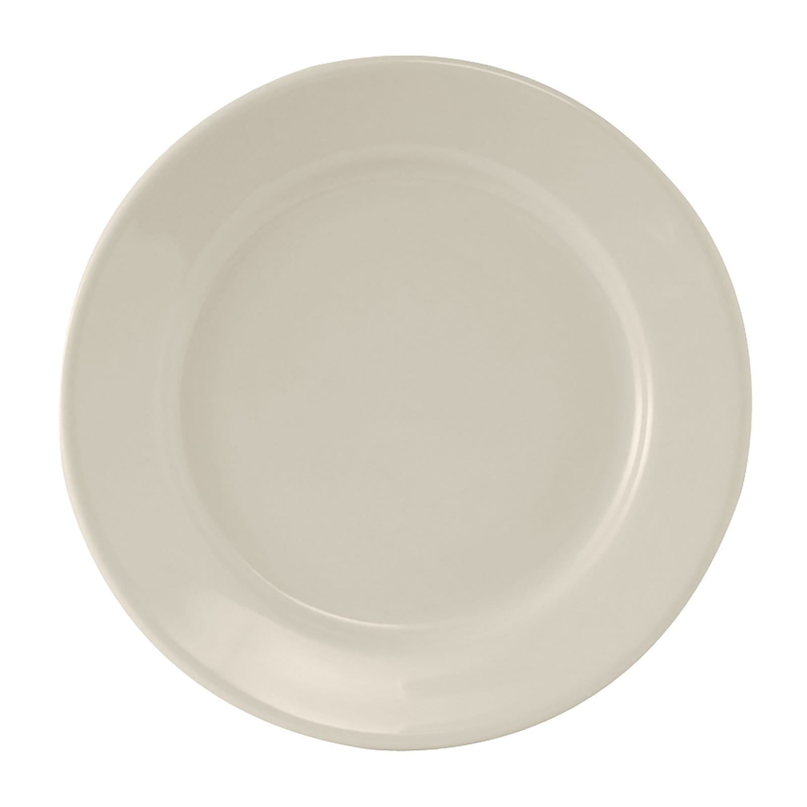 "Tuxton TRE-009 9.63"" Round Reno Plate - Ceramic, American White"