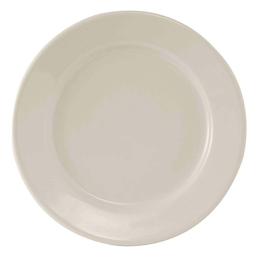 "Tuxton TRE-016 10.5"" Round Reno Plate - Ceramic, American White"