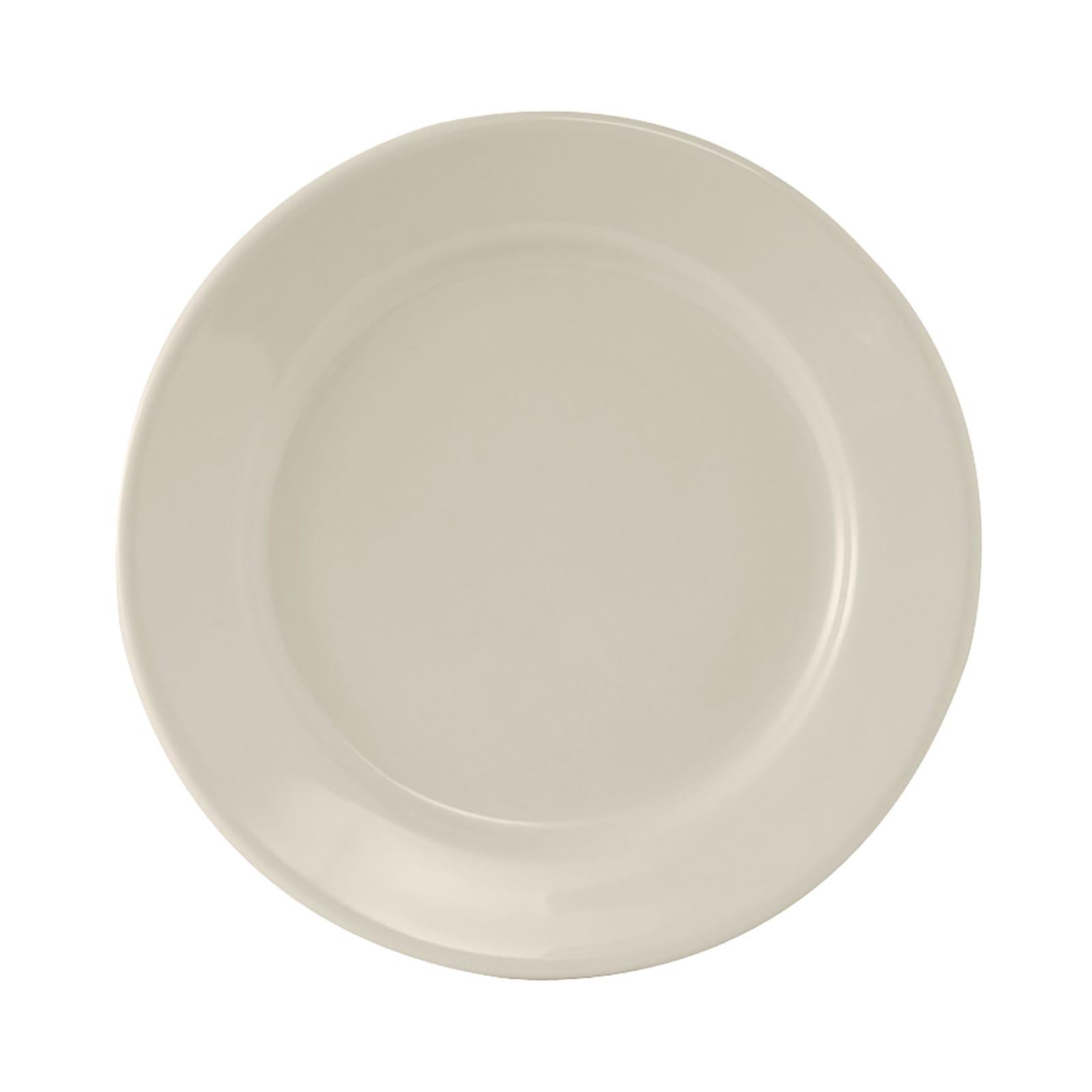 "Tuxton TRE-022 8.38"" Round Reno Plate - Ceramic, American White"