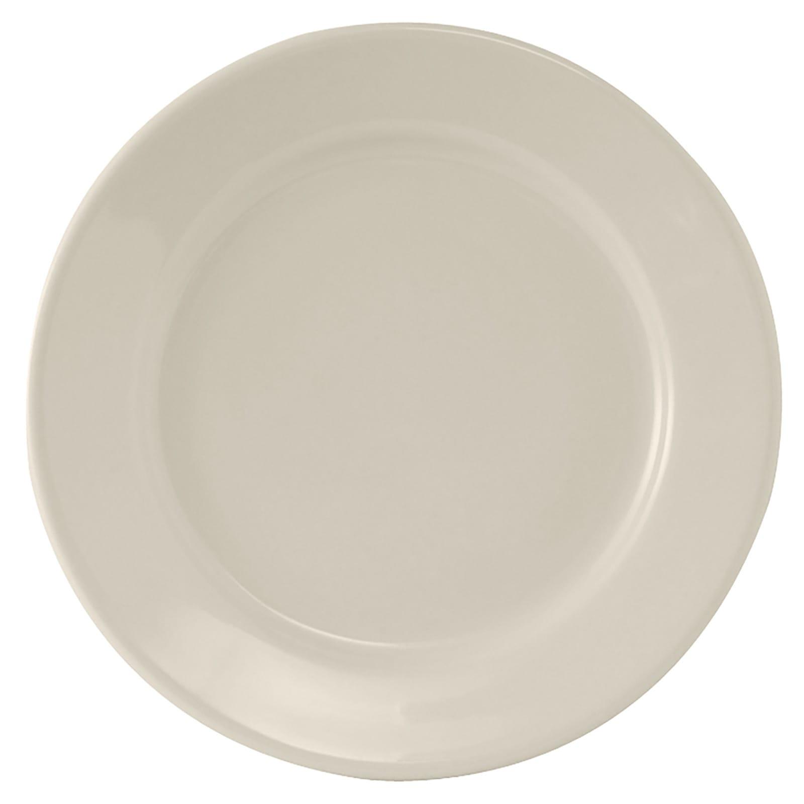 "Tuxton TRE-051 11.13"" Round Reno Plate - Ceramic,  American White"