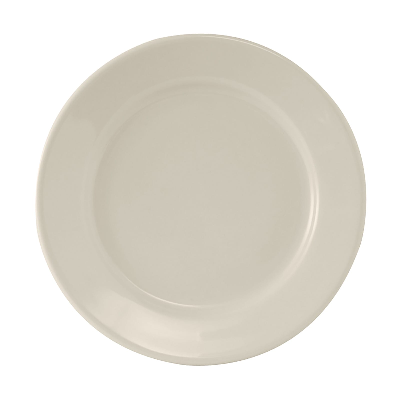 "Tuxton TRE-908 9"" Round Reno Plate - Ceramic, American White"