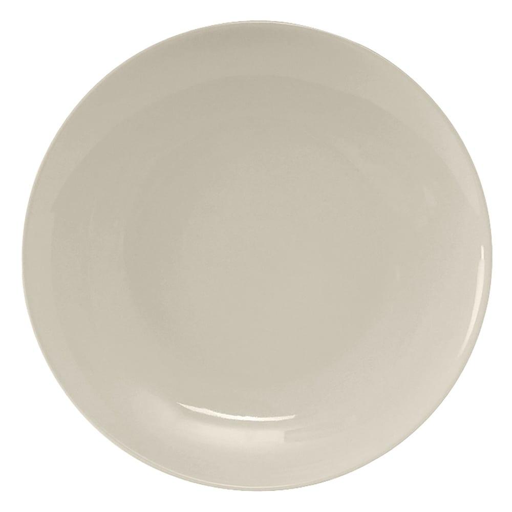 """Tuxton VEA-095 9.63"""" Round Venice Plate - Ceramic, American White"""