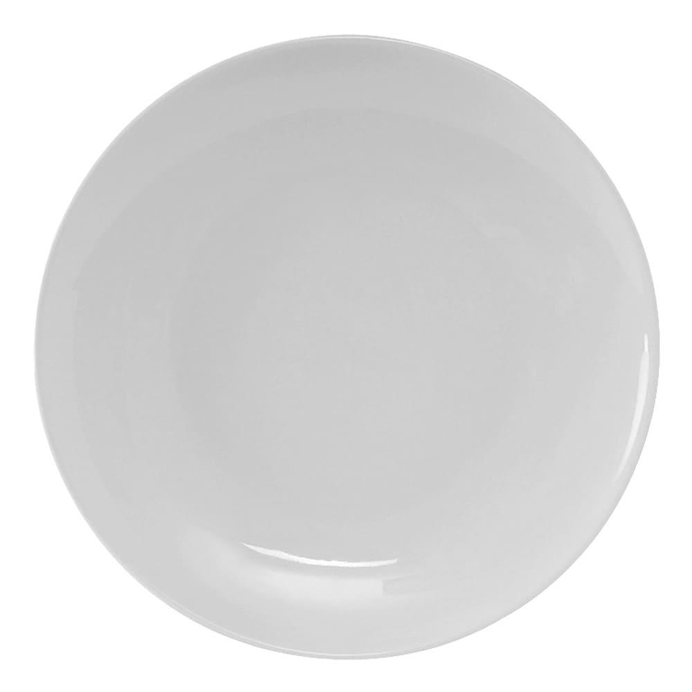 "Tuxton VPA-102 10.25"" Round Florence Plate - Ceramic, Porcelain White"