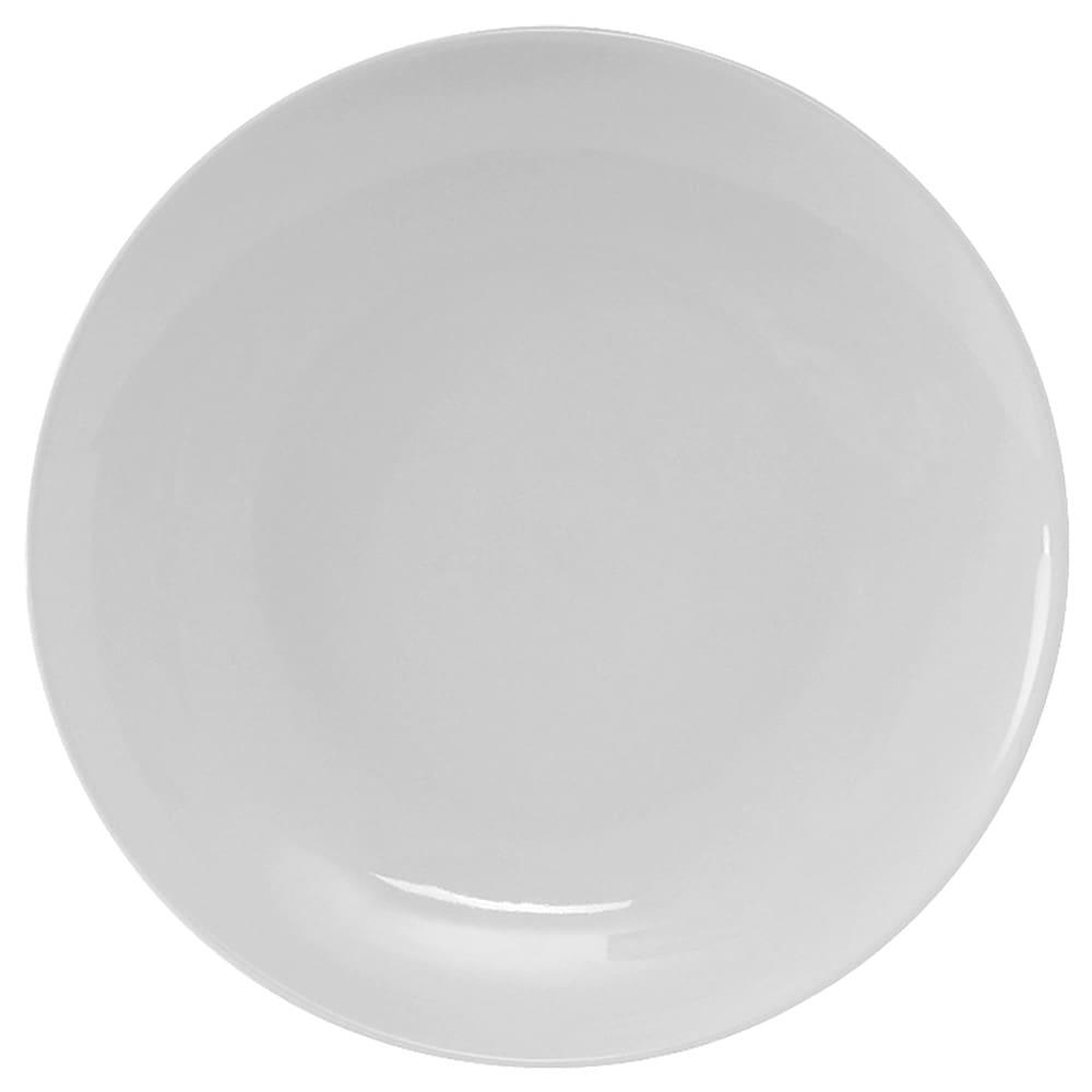"Tuxton VPA-115 11.75"" Round Florence Plate - Ceramic, Porcelain White"
