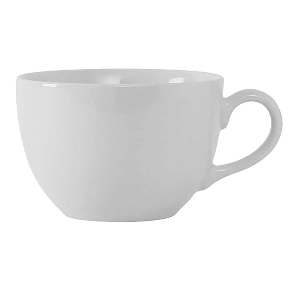 Tuxton VPF-1002 10 oz Florence Cup - Ceramic, Porcelain White