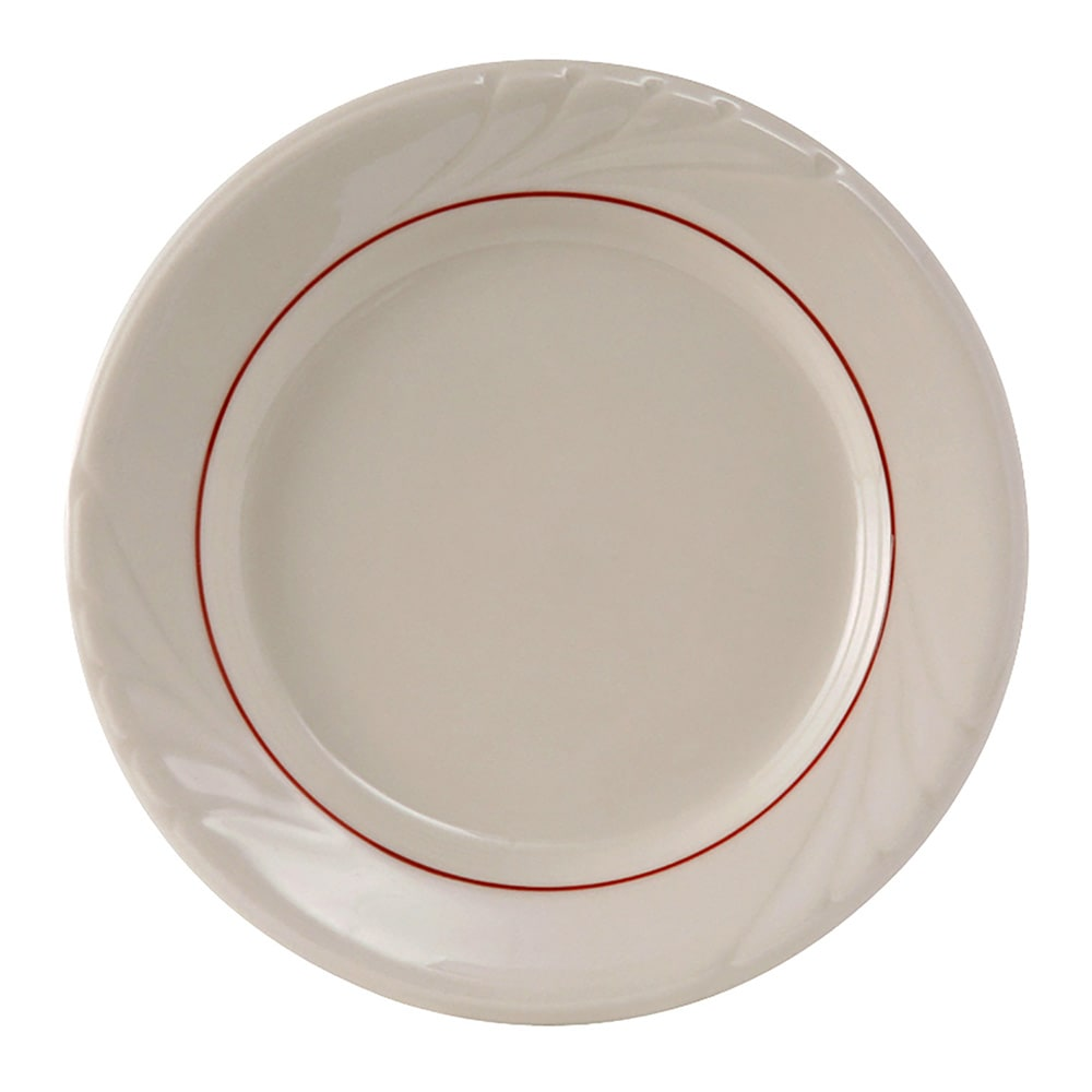 """Tuxton YBA-062 6.25"""" Round Monterey Plate - Ceramic, Eggshell"""