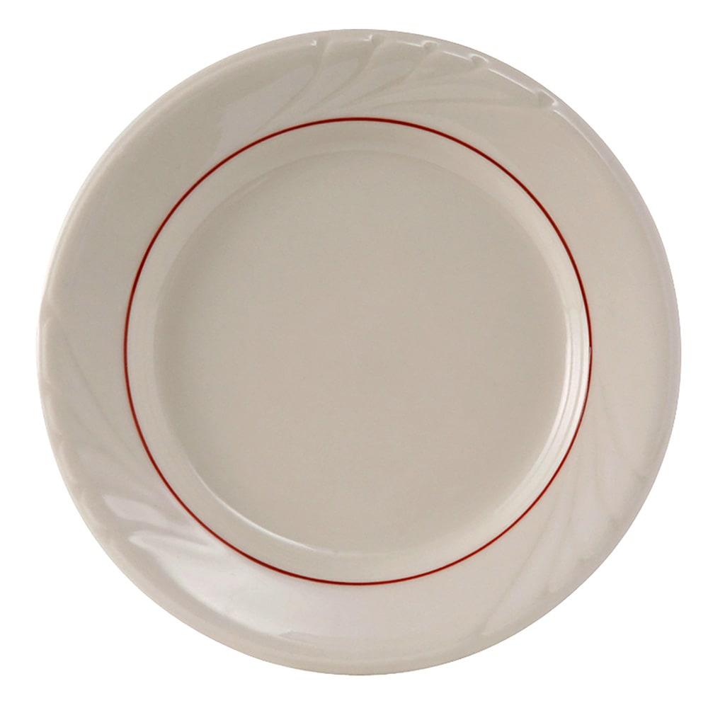 """Tuxton YBA-090 9"""" Round Monterey Plate - Ceramic, Eggshell"""